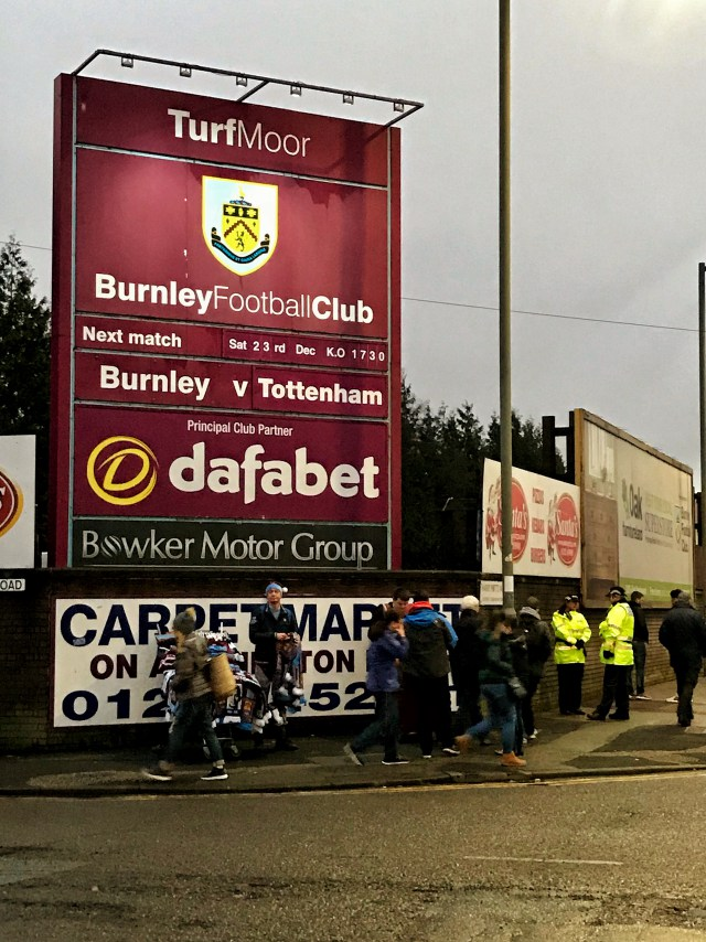 Match Day in Burnley