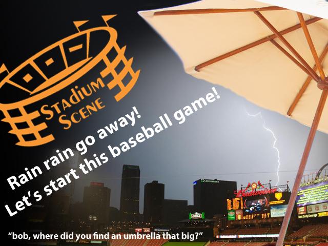 Rain, Rain Go Away! Let's Start This Baseball Game!